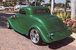 1933 FORD 3 WINDOW CUSTOM COUPE - Rear 3/4 - 101590