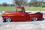 1957 CHEVROLET 3100 CUSTOM PICKUP - Side Profile - 102076