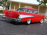 1957 CHEVROLET BEL AIR CUSTOM 2 DOOR COUPE - Rear 3/4 - 102120