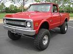 1971 CHEVROLET FLEETSIDE CUSTOM 4X4 SHORTBED PICKUP - Front 3/4 - 108325