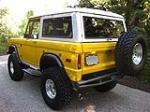 1974 FORD BRONCO CUSTOM SUV - Rear 3/4 - 112874