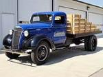 1937 CHEVROLET 1 1/2 TON FLATBED TRUCK - Front 3/4 - 113068