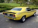 1970 PLYMOUTH CUDA AAR 2 DOOR COUPE - Rear 3/4 - 115929