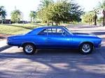 1967 CHEVROLET CHEVELLE MALIBU CUSTOM 2 DOOR COUPE - Side Profile - 116242