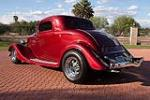 1934 FORD 3 WINDOW CUSTOM COUPE - Rear 3/4 - 116509