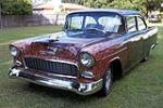 1955 CHEVROLET 210 CUSTOM 2 DOOR SEDAN - Front 3/4 - 125091