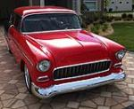 1955 CHEVROLET 150 CUSTOM 2 DOOR SEDAN - Front 3/4 - 125125