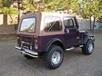 1980 JEEP CJ-7 CUSTOM SUV - Rear 3/4 - 125186