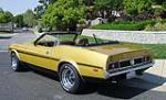 1973 FORD MUSTANG CUSTOM CONVERTIBLE - Rear 3/4 - 130310