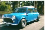 1969 AUSTIN MINI COOPER CUSTOM 2 DOOR COUPE - Front 3/4 - 130405