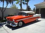 1956 CHEVROLET BEL AIR CUSTOM 2 DOOR HARDTOP - Front 3/4 - 133201