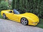 2001 CHEVROLET CORVETTE Z06 CUSTOM CONVERTIBLE - Front 3/4 - 133556