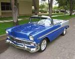 1956 CHEVROLET BEL AIR CUSTOM CONVERTIBLE - Front 3/4 - 137733