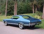 1968 CHEVROLET CHEVELLE MALIBU CUSTOM 2 DOOR HARDTOP - Rear 3/4 - 138099