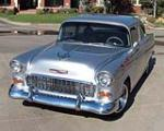 1955 CHEVROLET 150 CUSTOM 2 DOOR HARDTOP - Front 3/4 - 151366