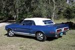 1968 SHELBY GT500 CONVERTIBLE - Rear 3/4 - 151399