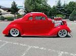 1936 FORD CUSTOM 5 WINDOW COUPE - Side Profile - 154023
