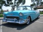 1955 CHEVROLET BEL AIR CUSTOM CONVERTIBLE - Front 3/4 - 157393