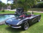 1961 CHEVROLET CORVETTE CUSTOM CONVERTIBLE - Rear 3/4 - 160972