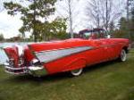 1957 CHEVROLET BEL AIR CONVERTIBLE - Rear 3/4 - 161092