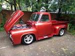 1955 FORD F-100 CUSTOM PICKUP - Side Profile - 161643