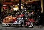 2014 INDIAN CHIEF VINTAGE CUSTOM CRUISER MOTORCYCLE - Front 3/4 - 163042