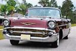 1957 CHEVROLET BEL AIR CUSTOM CONVERTIBLE - Front 3/4 - 170040
