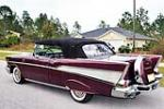 1957 CHEVROLET BEL AIR CUSTOM CONVERTIBLE - Rear 3/4 - 170040