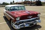 1956 CHEVROLET BEL AIR CUSTOM STATION WAGON - Front 3/4 - 174532