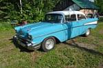 1957 CHEVROLET 210 CUSTOM 2 DOOR POST - Front 3/4 - 174730