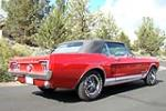 1967 FORD MUSTANG GT CONVERTIBLE - Rear 3/4 - 176987