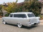 1957 CHEVROLET 210 CUSTOM 2 DOOR  WAGON - Rear 3/4 - 177631