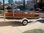 1949 CHRIS-CRAFT SPORT RUNABOUT BOAT - Side Profile - 178503