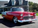 1955 CHEVROLET BEL AIR CUSTOM CONVERTIBLE - Front 3/4 - 179996