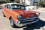 1957 CHEVROLET BEL AIR 2 DOOR POST - Front 3/4 - 181004
