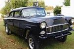 1955 CHEVROLET BEL AIR GASSER CUSTOM - Front 3/4 - 181721