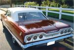 1963 CHEVROLET IMPALA SS 409 CONVERTIBLE - Rear 3/4 - 184000