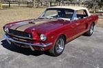 1966 FORD MUSTANG CUSTOM CONVERTIBLE - Front 3/4 - 184190
