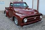 1956 FORD F-100 CUSTOM PICKUP - Front 3/4 - 186462