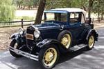 1931 FORD MODEL A SPORT COUPE - Front 3/4 - 186846