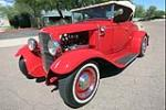 1931 FORD MODEL A CUSTOM ROADSTER - Front 3/4 - 187396