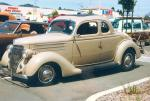 1936 FORD 5 WINDOW CUSTOM COUPE - Front 3/4 - 19466