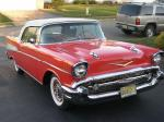 1957 CHEVROLET BEL AIR CONVERTIBLE - Front 3/4 - 20555