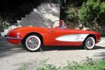 1960 CHEVROLET CORVETTE FI CONVERTIBLE - Side Profile - 20967