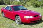 1996 FORD MUSTANG COBRA CONVERTIBLE - Front 3/4 - 210049