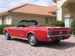 1967 FORD MUSTANG CONVERTIBLE - Rear 3/4 - 21674