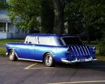 1955 CHEVROLET BEL AIR NOMAD STATION WAGON - Rear 3/4 - 21945