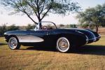 1957 CHEVROLET CORVETTE FI CONVERTIBLE - Rear 3/4 - 22226