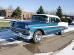 1956 CHEVROLET BEL AIR 2 DOOR HARDTOP - Front 3/4 - 23485