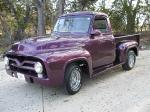 1955 FORD F-100 CUSTOM PICKUP - Front 3/4 - 24356